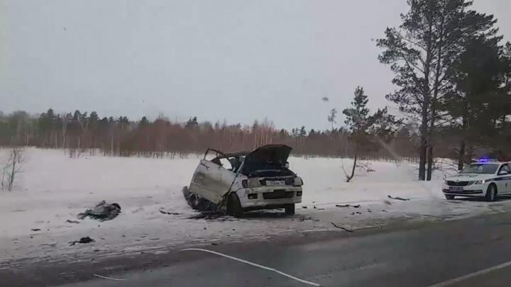Авария с грузовиком на новосибирской трассе: одного из водителей госпитализировали