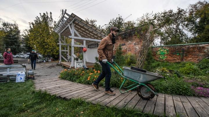 «Люди готовы платить, чтобы посадить дерево»: как горожане восстановили заброшенный сад в центре Екатеринбурга