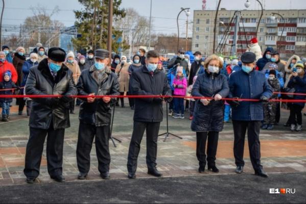 В Богдановиче к празднику приурочили открытие детской площадки