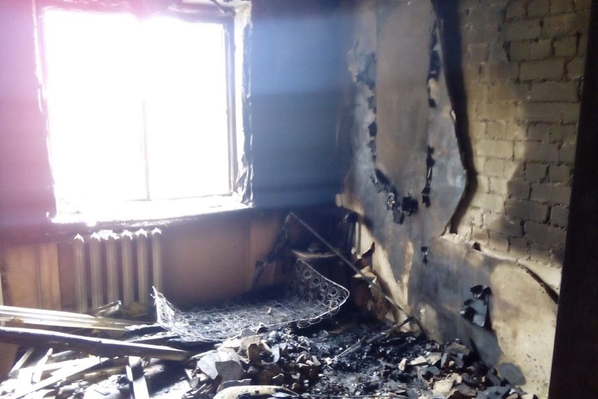 Квартира пострадала сильно