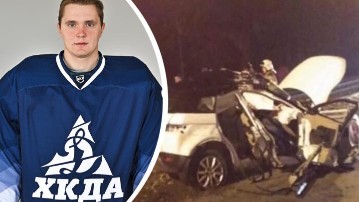 Водитель, с которым ехал погибший 25-летний хоккеист из Новосибирска, был пьян