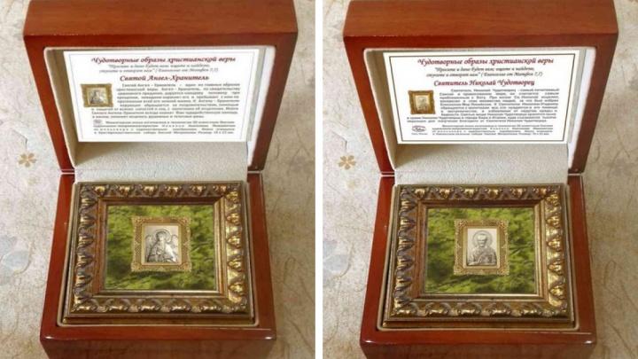Правительство Омской области заказало 10 икон размером с ноготь