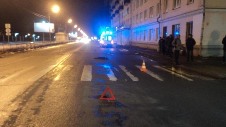 В центре Архангельска насмерть сбили женщину. Владельца автомобиля задержали