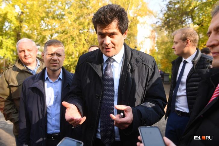 Мэр Высокинский  Фото: Артем Устюжанин / E1.RU