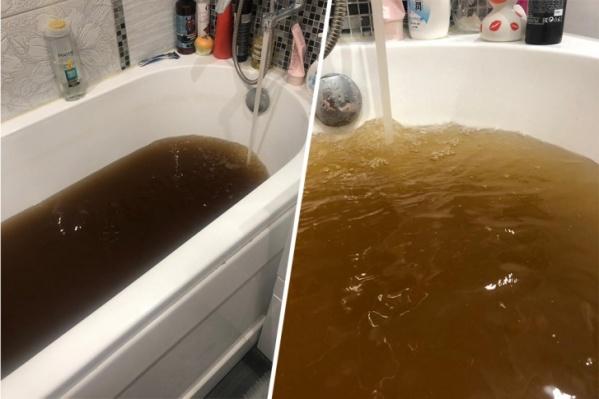 Такая вода текла из кранов челябинцев в январе