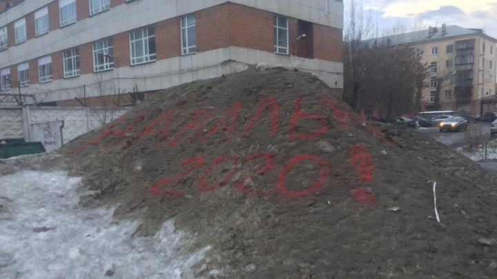 Наталья Котова потребовала от глав районов вывезти чёрные кучи с улиц Челябинска