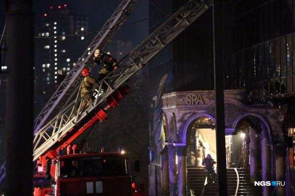 На ликвидацию пожара ушло почти два часа