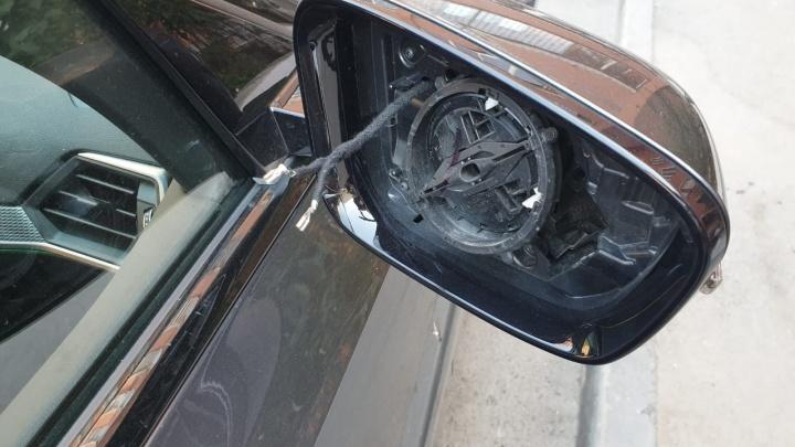 На Сортировке начал орудовать воришка, который снимает с автомобилей зеркала заднего вида