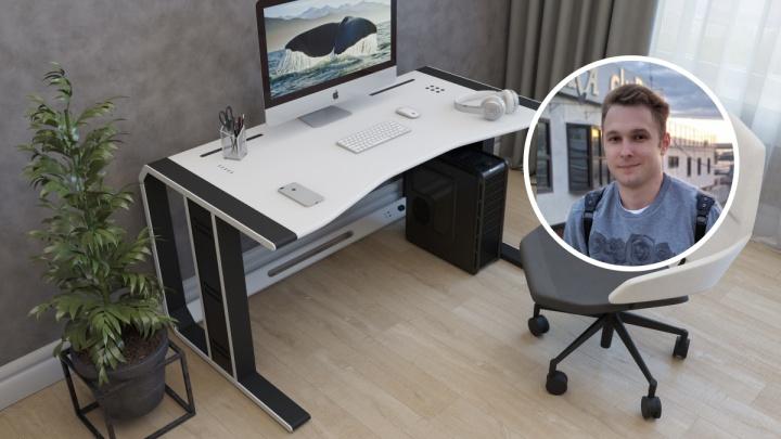 Новосибирец потратил два года и 100 тысяч на идеальный компьютерный стол — вот как он выглядит