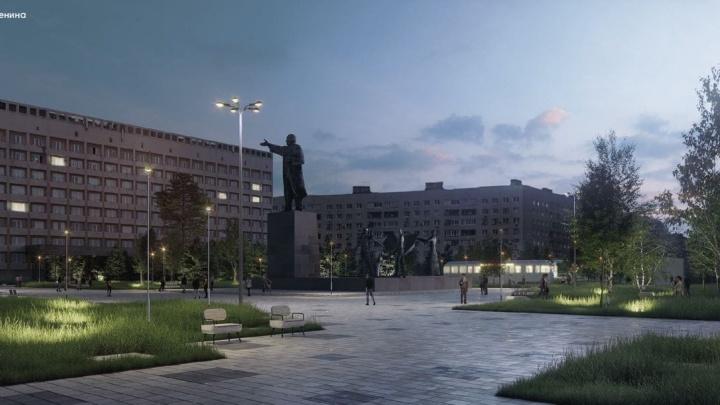 Вагон-ресторан и туалет имени Ленина. Нижегородцам показали план благоустройства одноименной площади