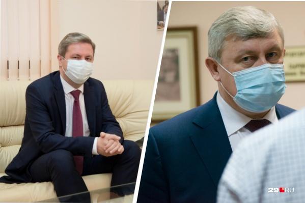 Слева — Дмитрий Морев, справа — Сергей Роднев. Кто-то из них скоро станет главой Архангельска