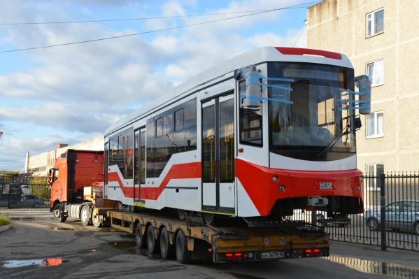 Трамвай готов к отправке