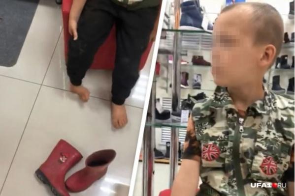 Когда малыша завели в ближайший обувной магазин, обнаружилось, что у него вывернута нога