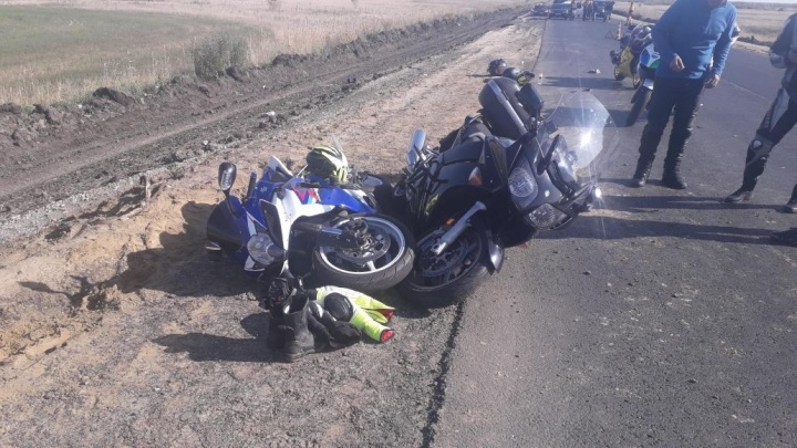 В Курганской области в аварию попали трое мотоциклистов