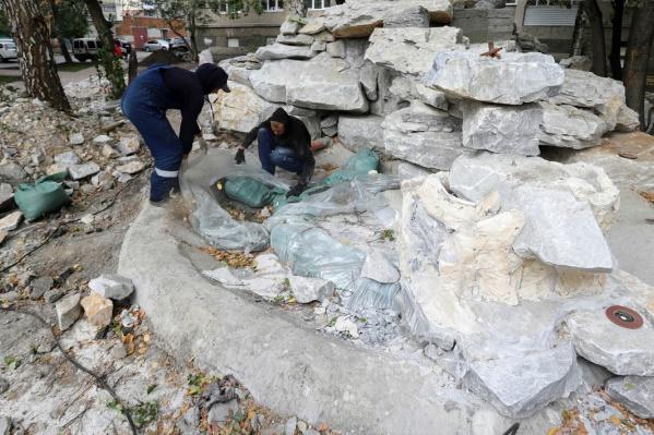 Камень для рокария привезли в Курган с Урала