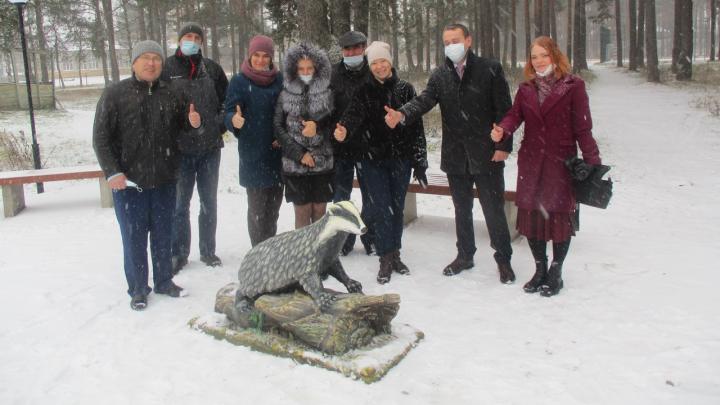 Фотофакт: в Шенкурске появился памятник барсуку