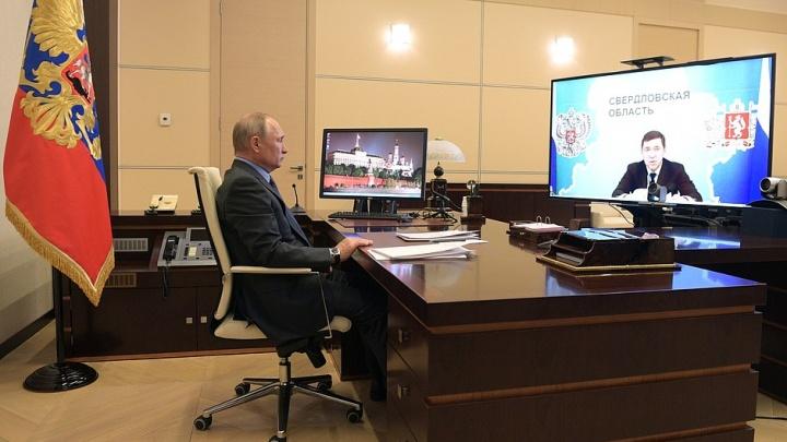 О чем губернатор рассказал президенту: полный текст разговора Владимира Путина и Евгения Куйвашева