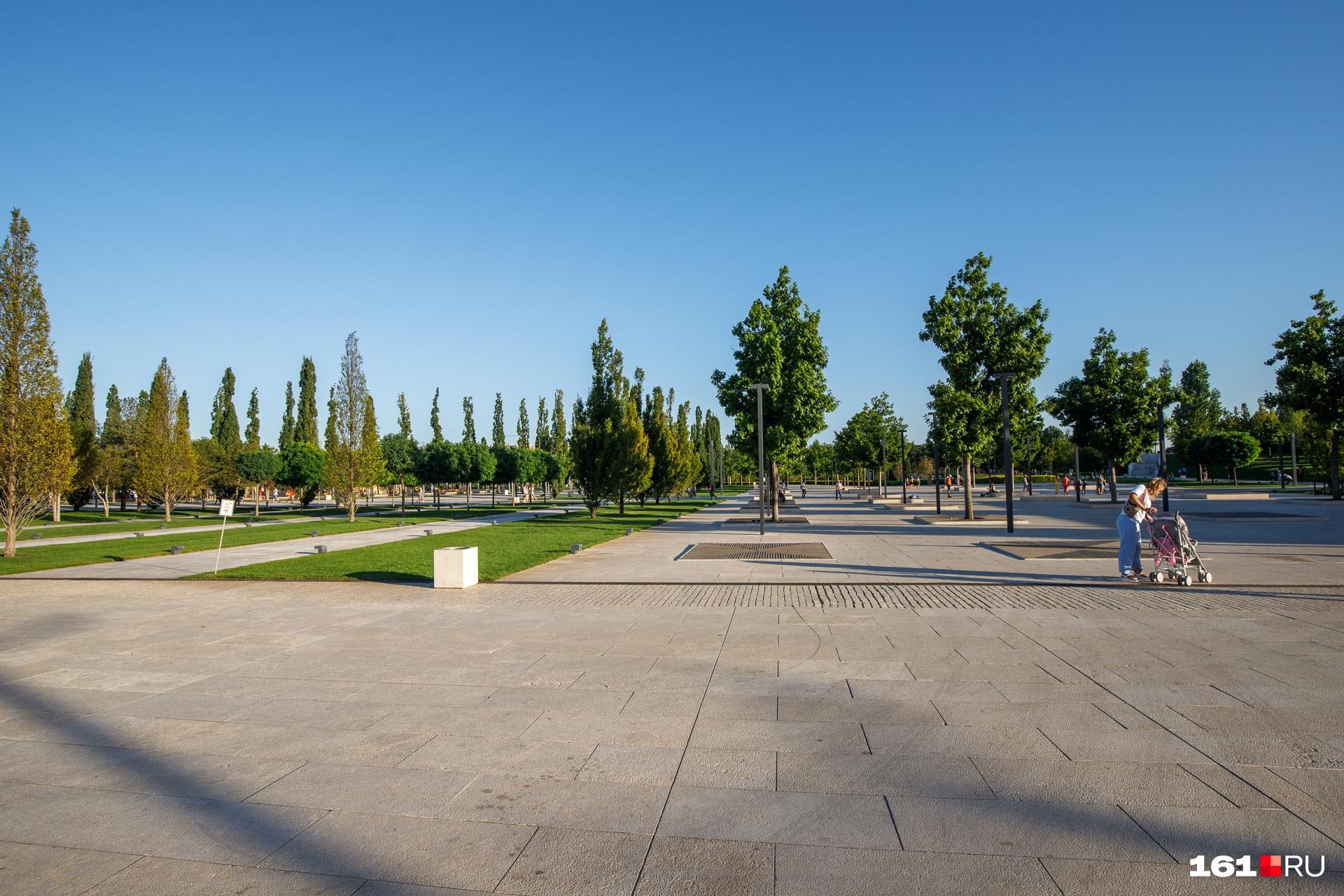 Площадь парка почти 23 гектара. До этого здесь был пустырь
