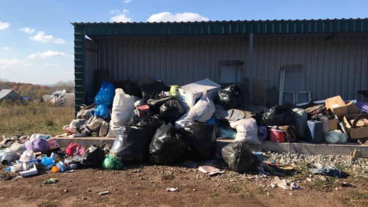 Регоператор прокомментировал свалку мусора в одной из деревень Башкирии