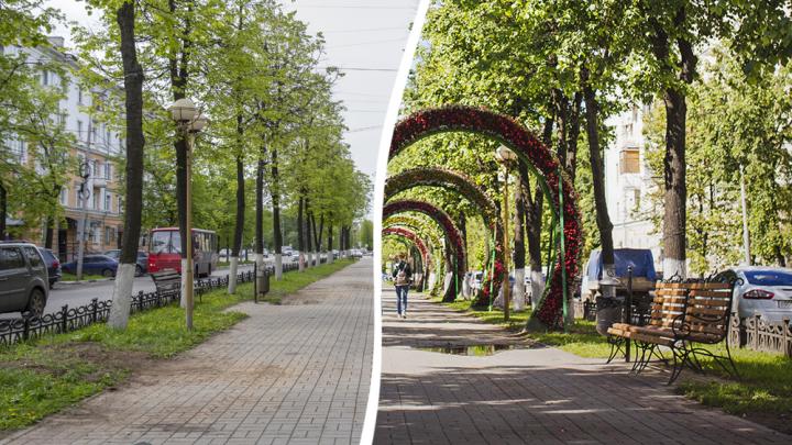 В Ярославле арки-сердца убрали с аллеи вместе с лавками