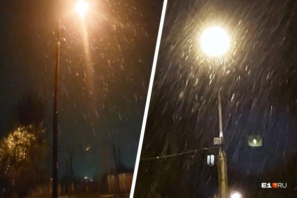 На Северном Урале похолодало и пошел снег