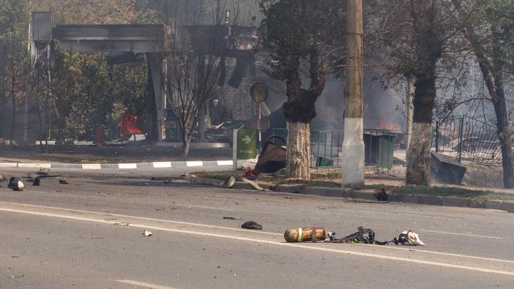 Угроза пока не снята: из резервуаров на взорвавшейся в Волгограде АЗС стравили весь газ