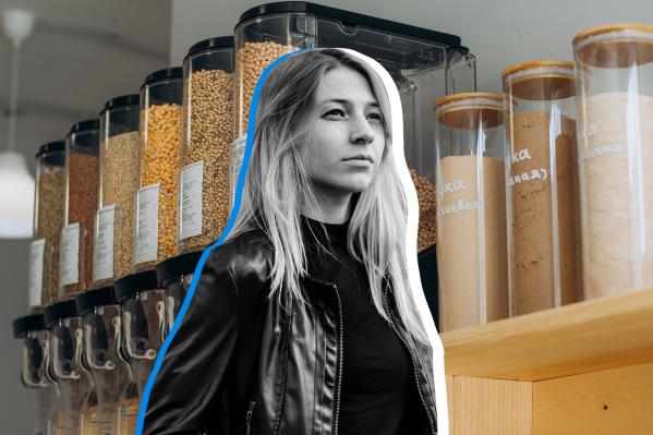 Анастасия открыла магазин, в котором все товары продаются без упаковки (и даже мука с крупой)