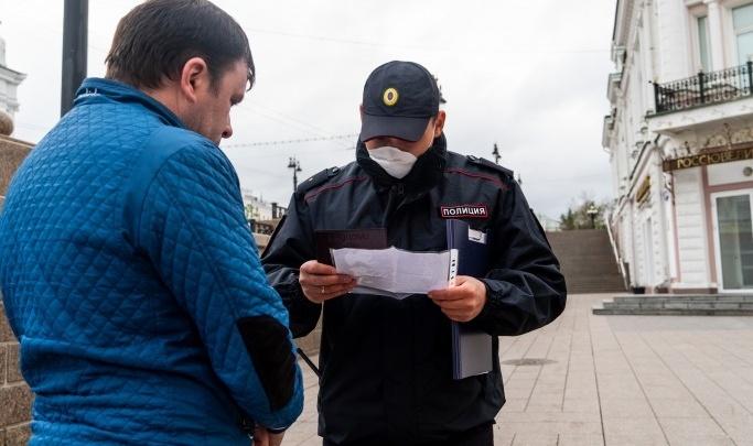 Силовики усиливают патрулирование улиц, чтобы омичи не нарушали режим самоизоляции