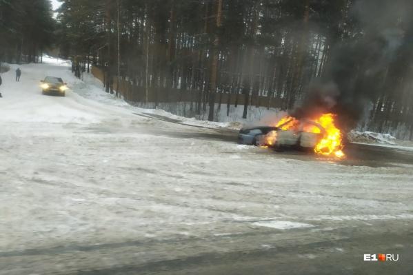 По предварительным данным, произошло самовозгорание