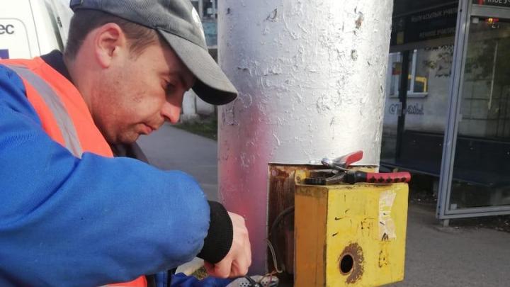 В Уфе починили светофор с нерабочей кнопкой возле одной из школ
