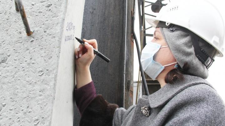 Оксана Фадина дала старт строительству нового детского сада на 1-й Станционной