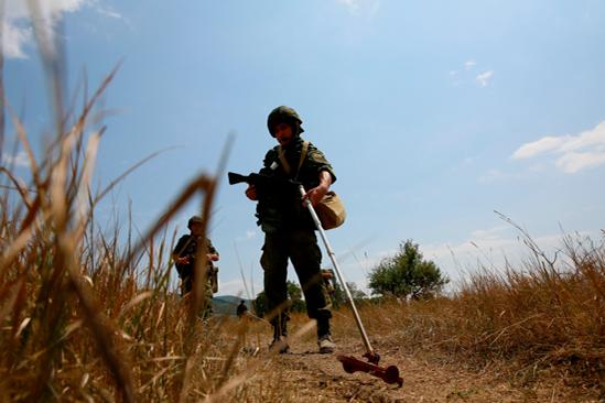 Снаряд обезвредили на полигоне «Кадамовский»