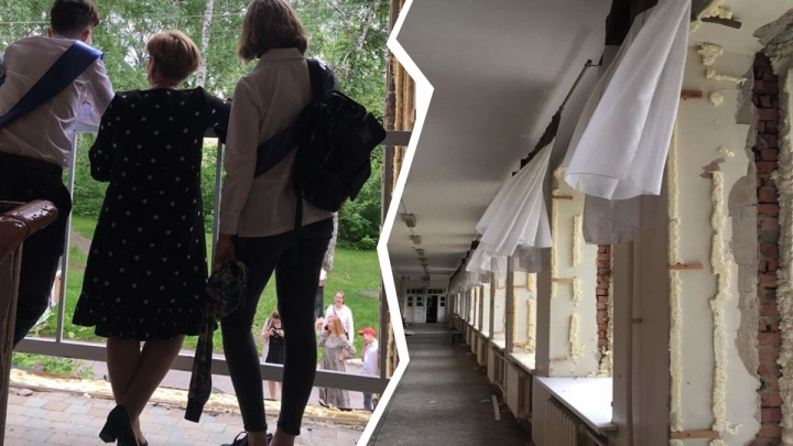 В Академгородке готовят к сносу тесную гимназию — выпускники приходят попрощаться со зданием