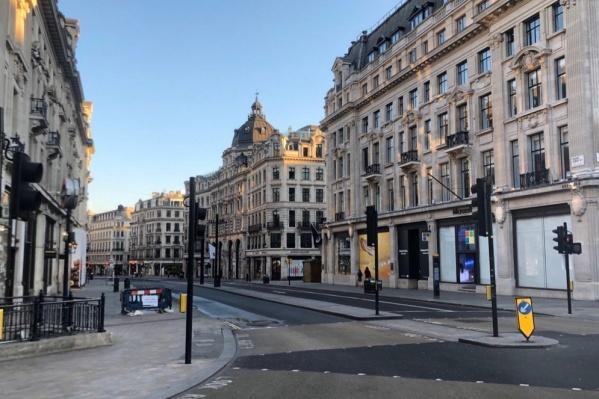 Пустая Оксфорд-стрит