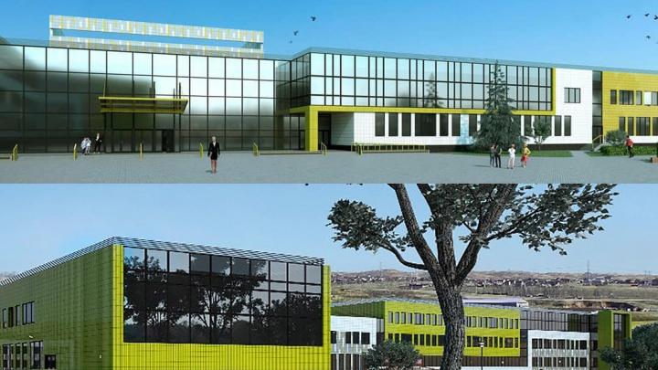На Бугаче начали строить самую большую в Красноярске школу