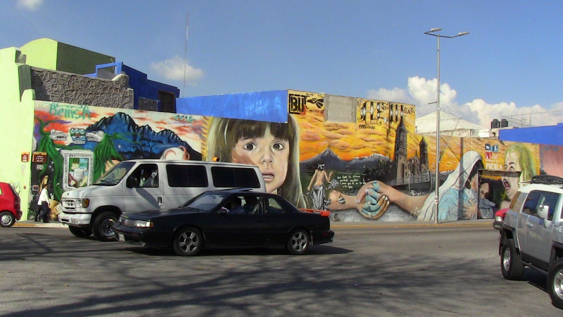 Уличное искусство у мексиканцев хорошо развито