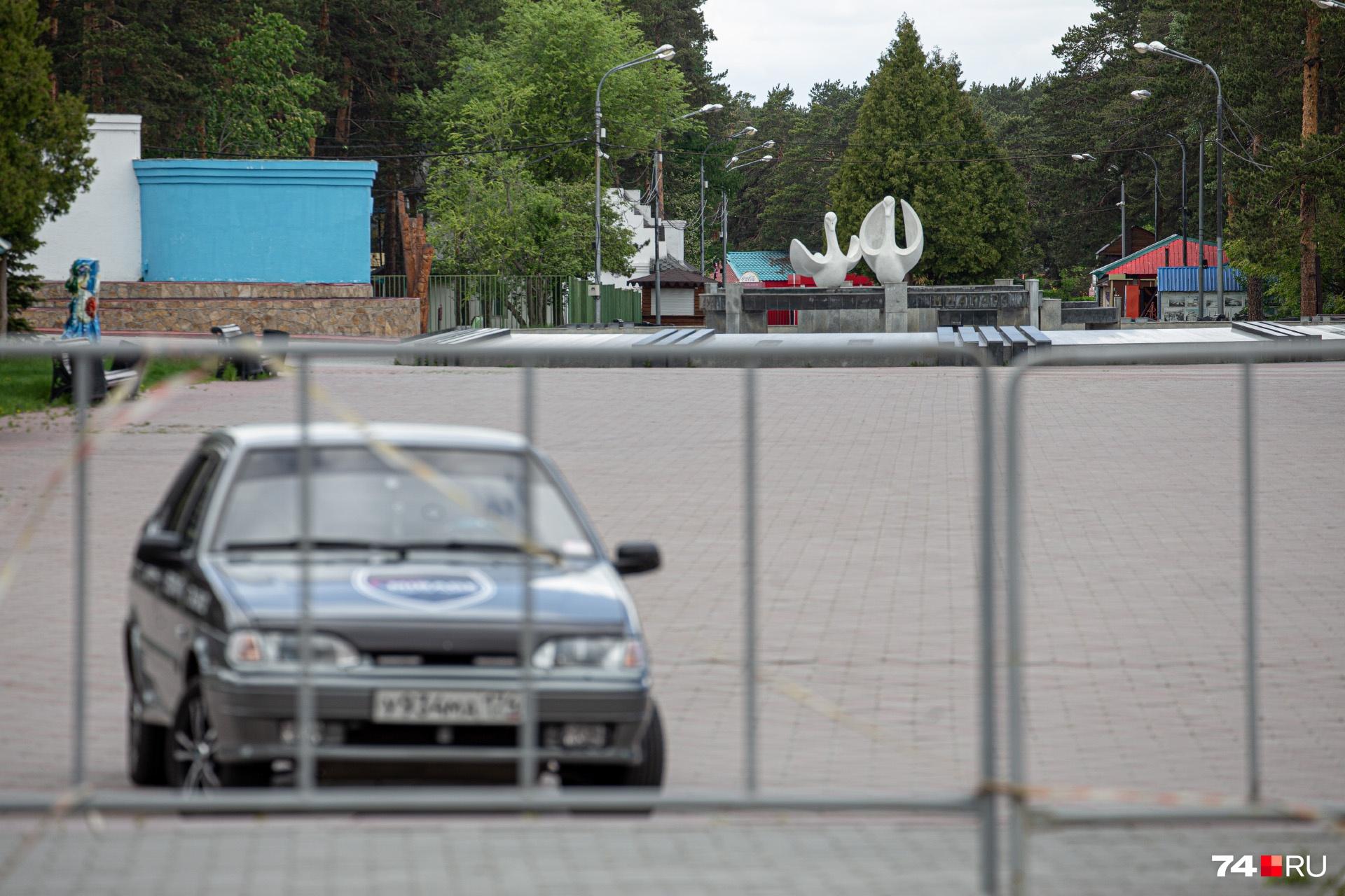 Парк Гагарина почти два месяца стоял без посетителей