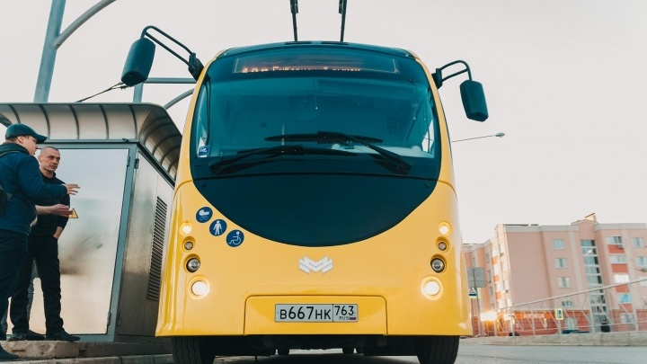 В Самаре электробус скоро вновь выпустят на маршрут
