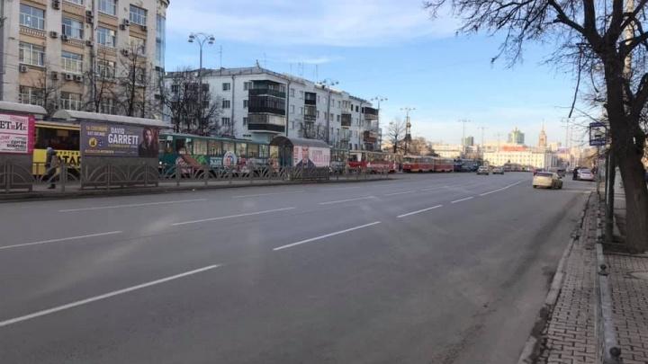 На проспекте Ленина случился «трамвайный армагеддон»