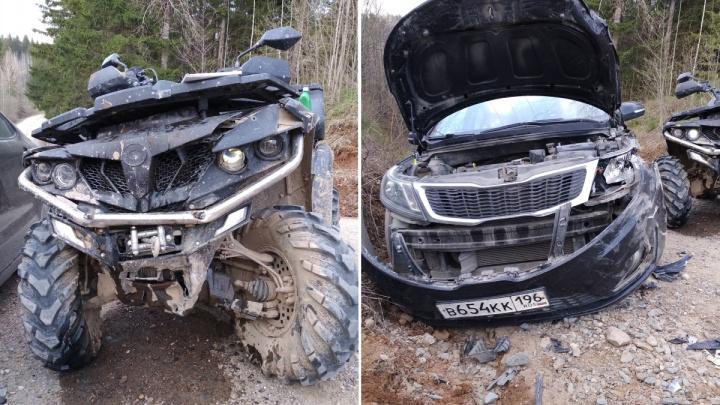 В Пермском крае в ДТП пострадал ребенок, который управлял квадроциклом