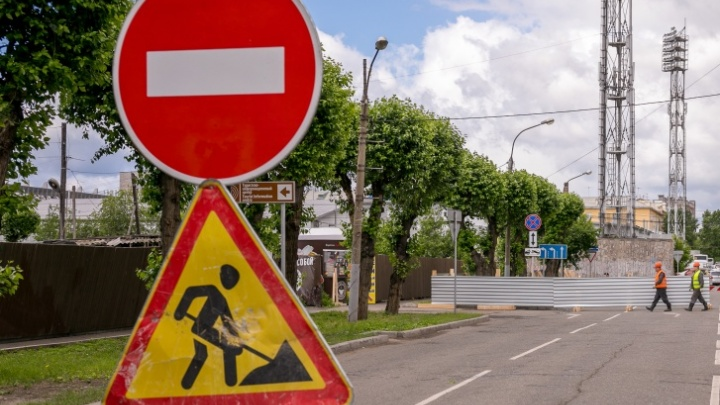 Из-за ремонта в Октябрьском районе перекроют полосы и изменят схему движения двух маршруток
