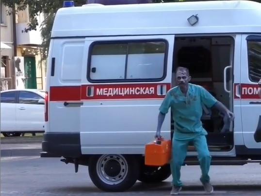 Полиция проверит ростовского пранкера, который разъезжал по городу на скорой помощи