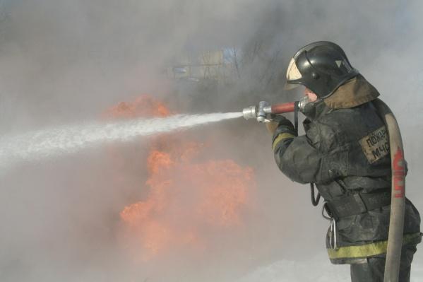 Пожарные полтора часа боролись с огнем