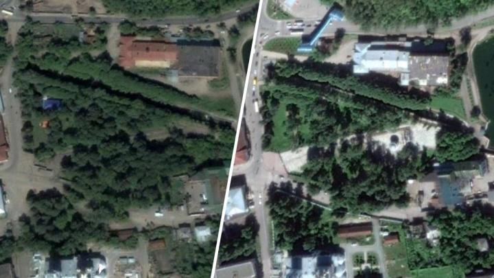 Как изменились парки и скверы Перми за 15 лет: сравниваем фотографии со спутника