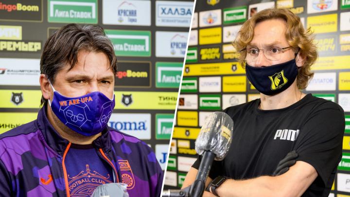 Обсуждали башкирский мед и Голубева: о чем говорили участники матча «Ростов» — «Уфа»