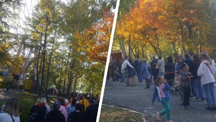 «Минут 40 стою»: в парке Маяковского выстроилась огромная очередь к колесу обозрения