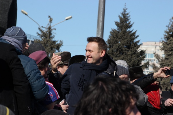 Навальный несколько раз приезжал в Новосибирск. Этот снимок сделан в 2017 году