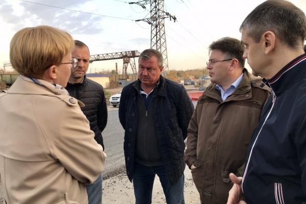 Подрядчики рассказали главе Самары Елене Лапушкиной про свои успехи в реконструкции Заводского шоссе