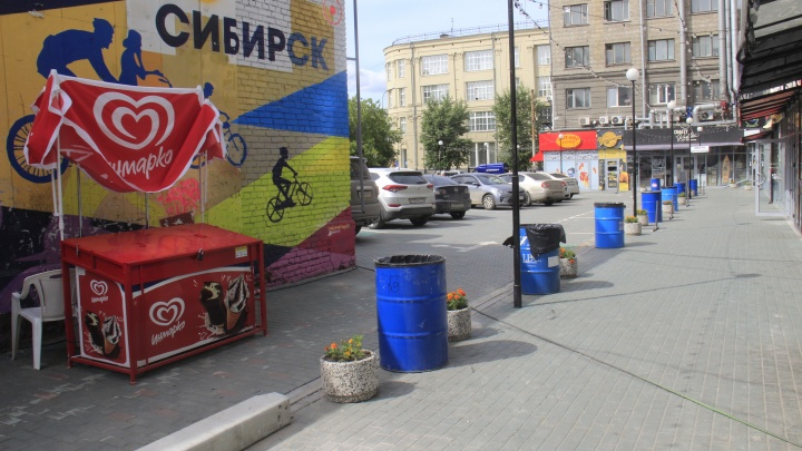 Оставили только урны: показываем, в каком виде работает ресторанный дворик на Ленина после проверок