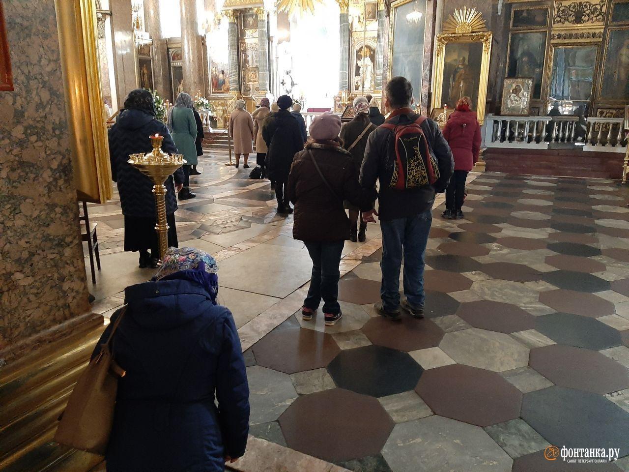 Литургия в Казанском соборе